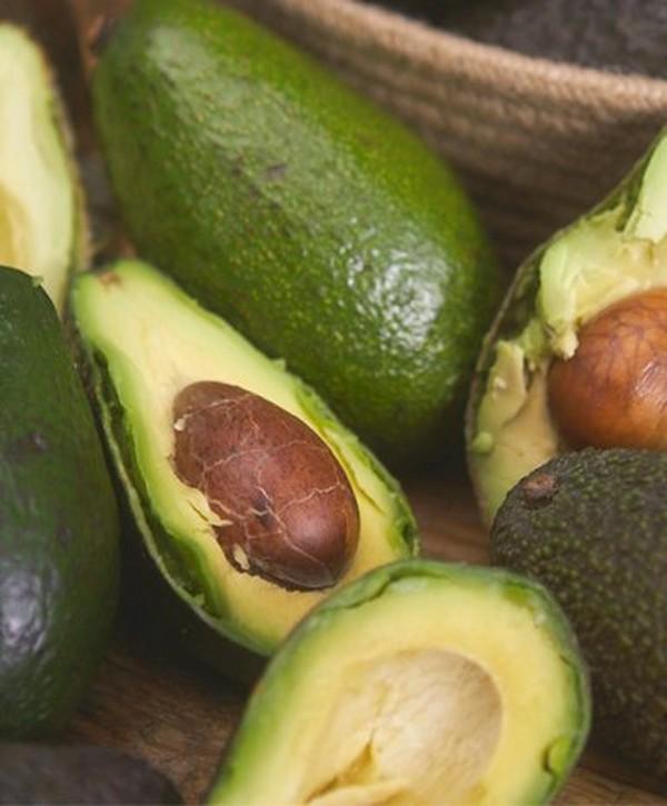 Avocados cut open