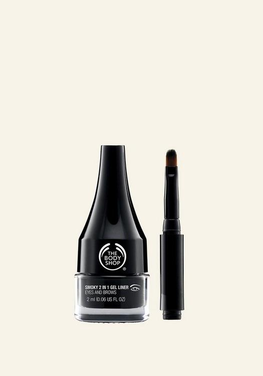 Eyeliner charbonneux en gel 2-en-1 pour cils et sourcils 2ML