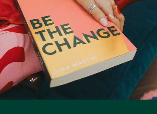 Book cover that reads 'be the change' by Gina Martin