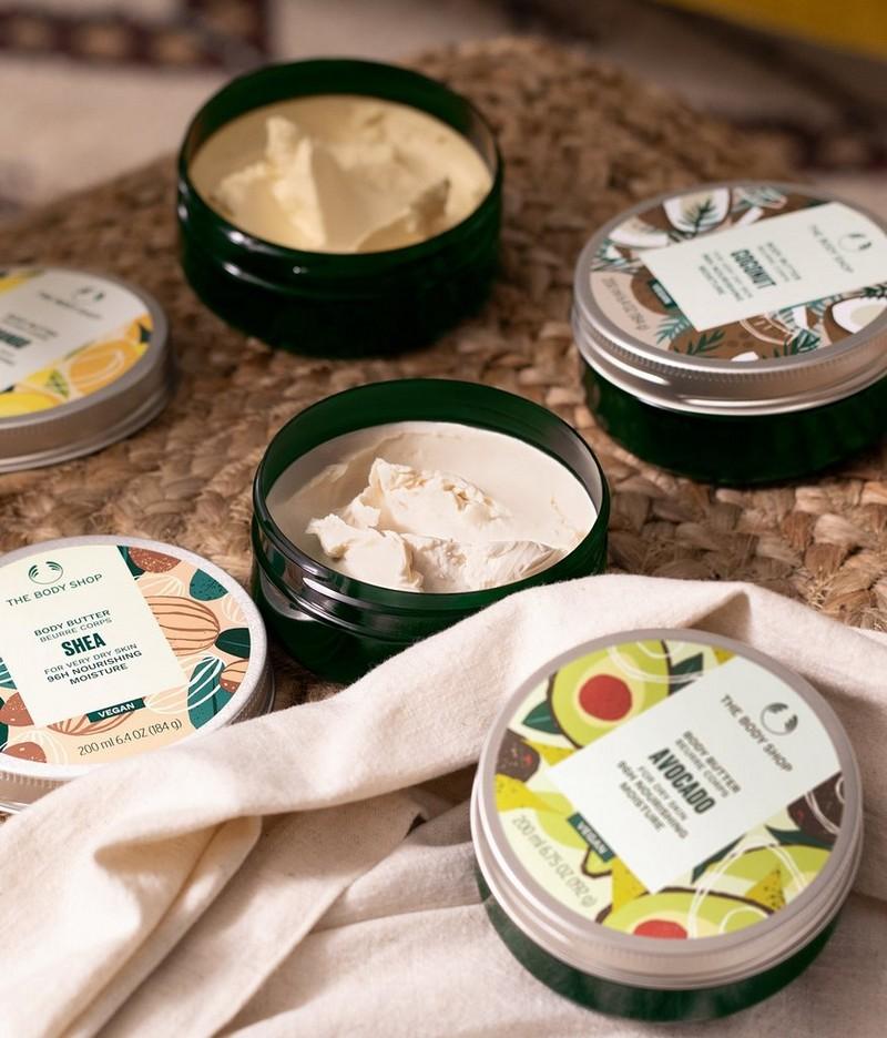 Range of body moisturisers