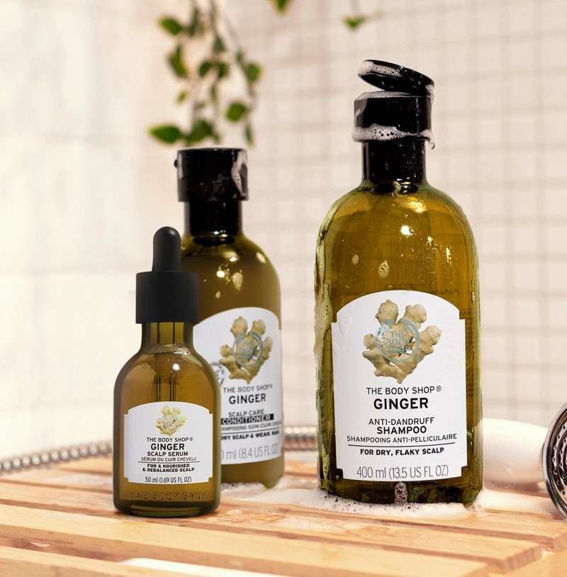 Ginger hair care range by The Body Shop