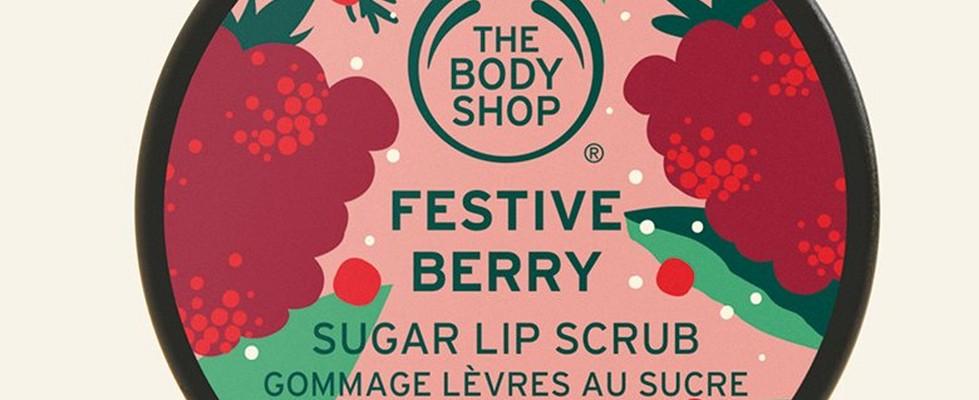 Festive berry sugar lip scrub