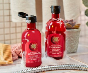 Strawberry Shampoo and Conditioner by The Body Shop