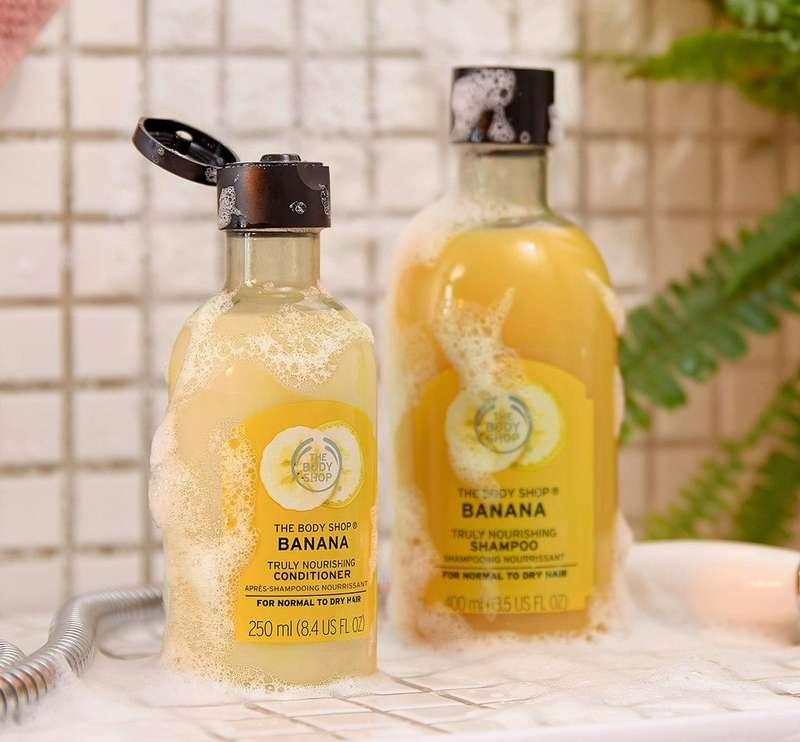 Banana shampoo and conditioner