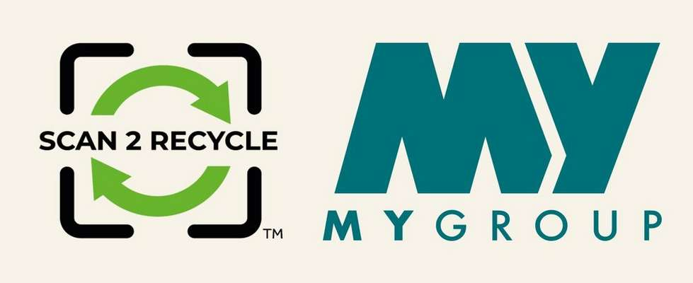 Scan2Recycle and MYGroup logos