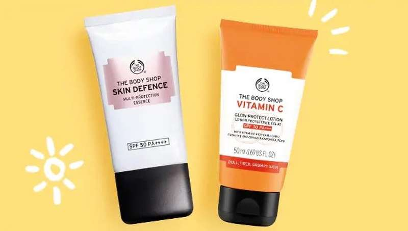 The Body Shop SPF products
