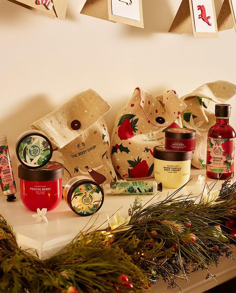 Weihnachtseditionen von The Body Shop