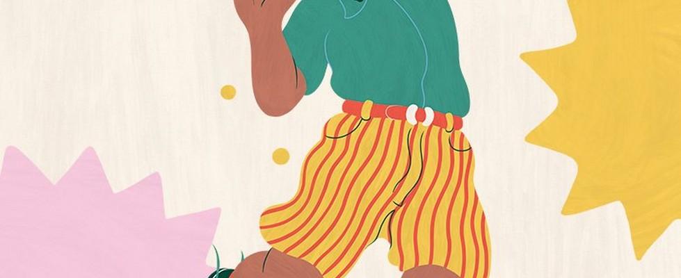 Ilustración de una persona metiendo una moneda en una hucha