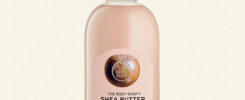 Shea shampoo against beige background