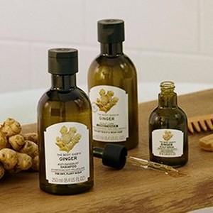 Ginger shampoo range
