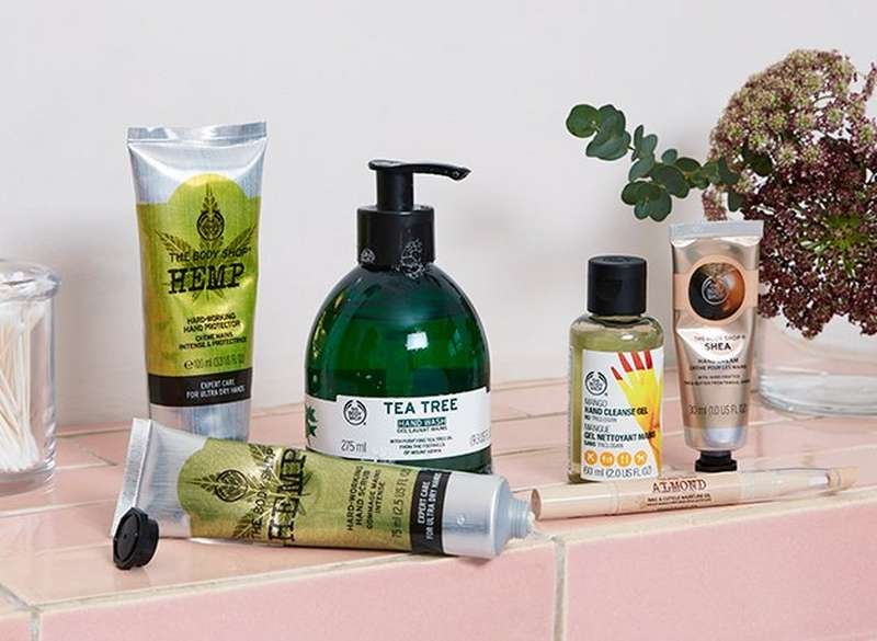 Productos de cuidado de manos de The Body Shop