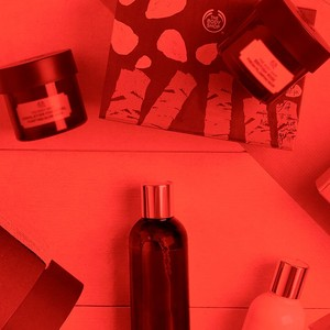 Selection of gifts with red filter overlay