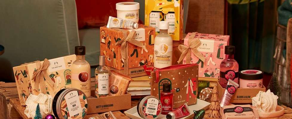 Selection of The Body Shop gifts