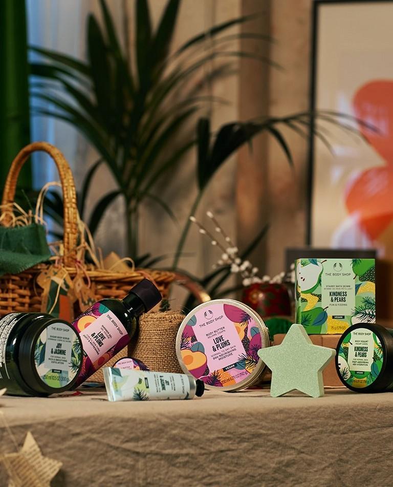 Seasonal Bath & body products on the table