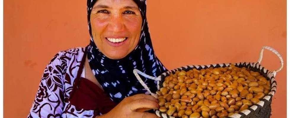 Woman holding basket