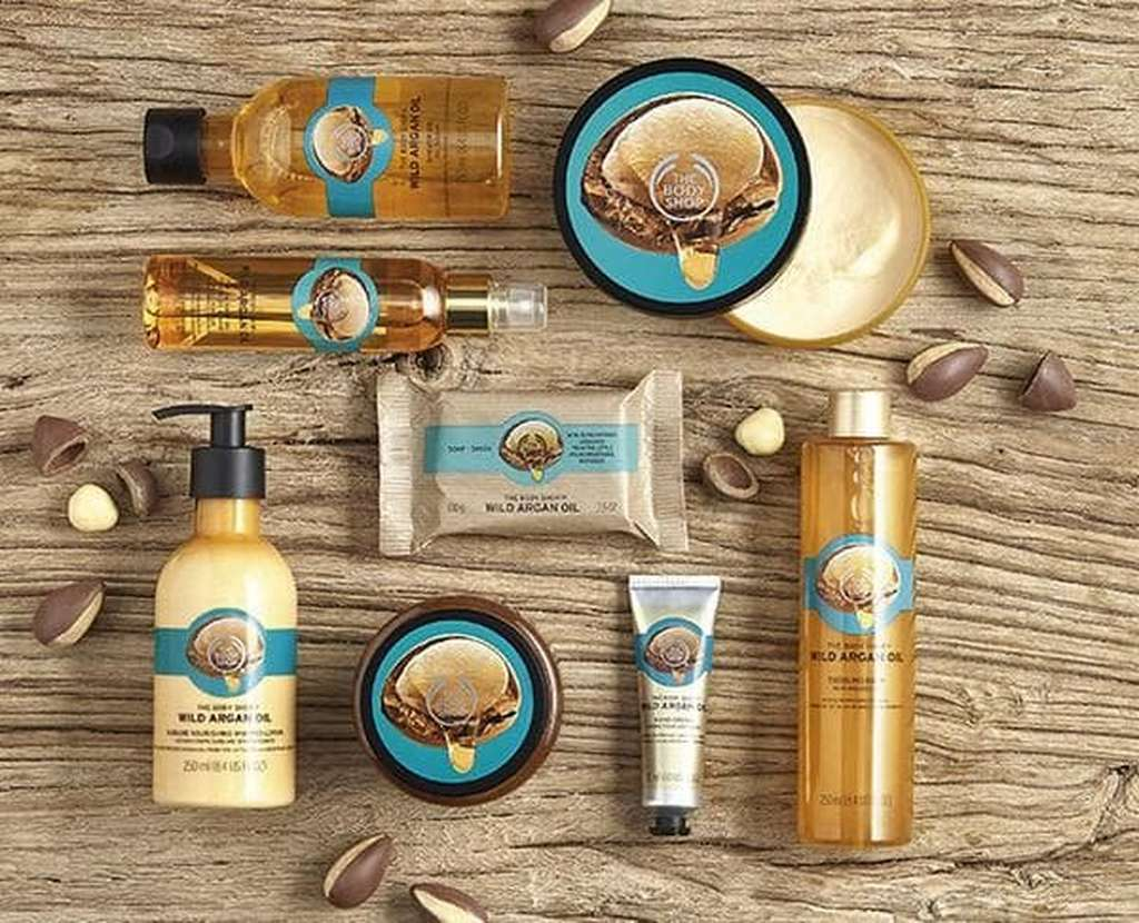 The Body Shop Argan Oil products