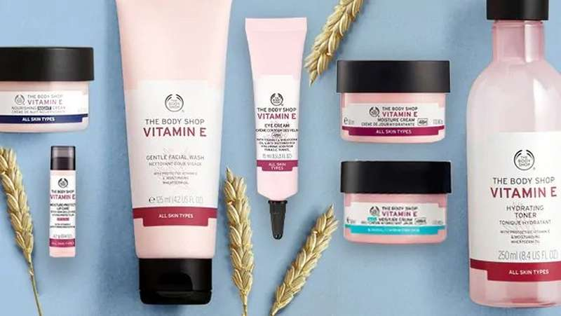 The Body Shop Vitamin E products