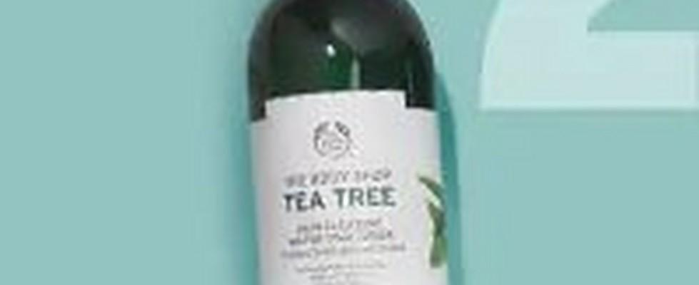 Bottle Of The Body Shop Tea Tree Skin Clearing Mattifying Toner