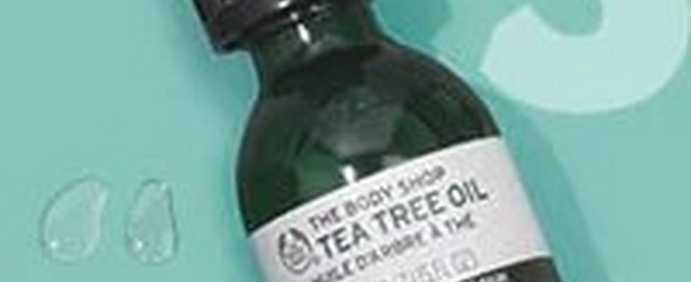 Bottle Of The Body Shop Tea Tree Oil