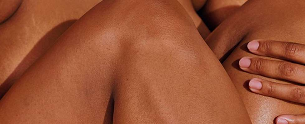 Close up shot of models legs
