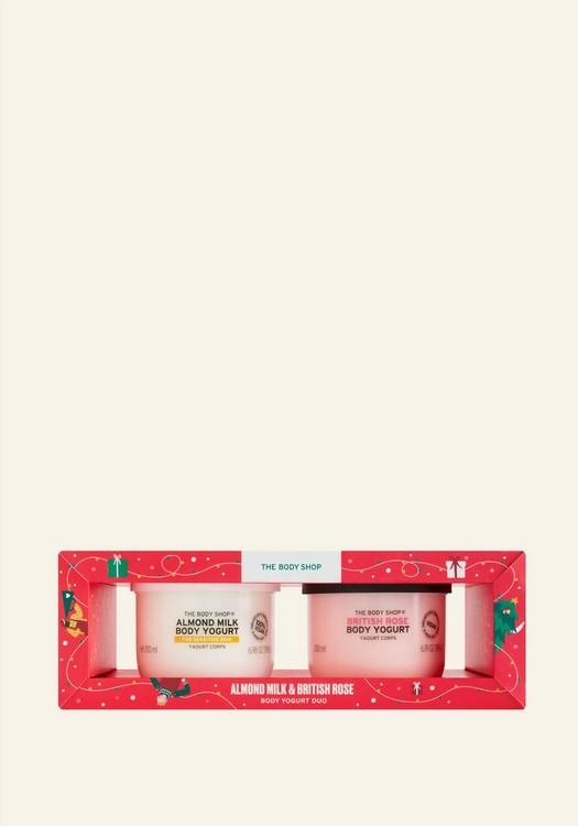 Almond Milk & British Rose Body Yogurt Duo