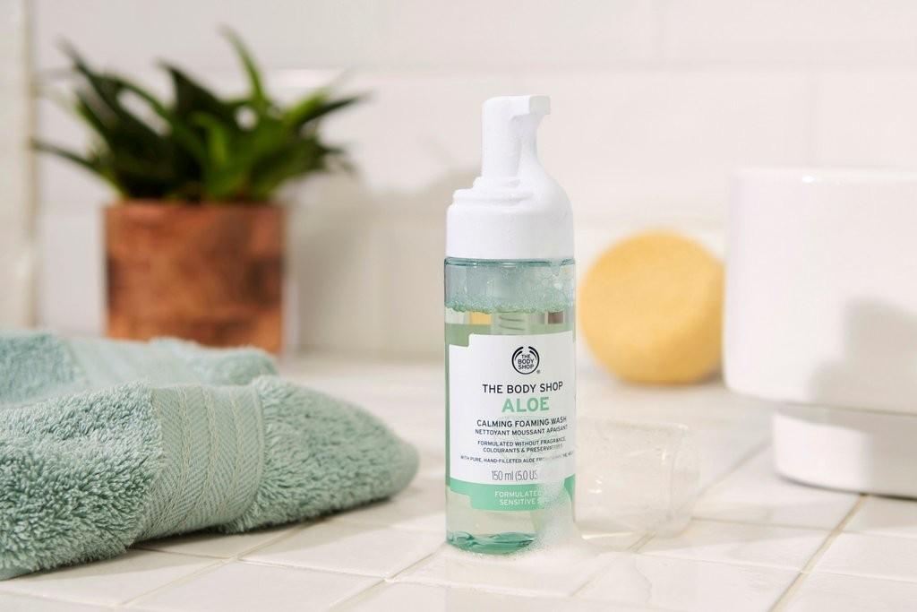 The Body Shop Aloe Calming Foaming Wash