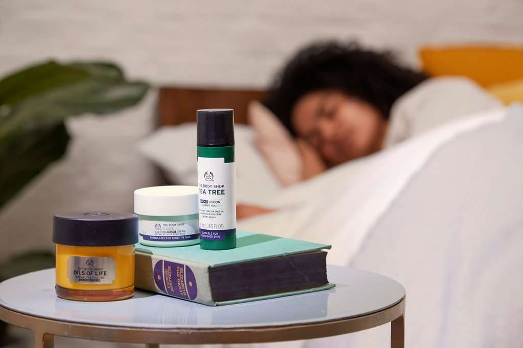 The Body Shop Night Cream On Bedside Table