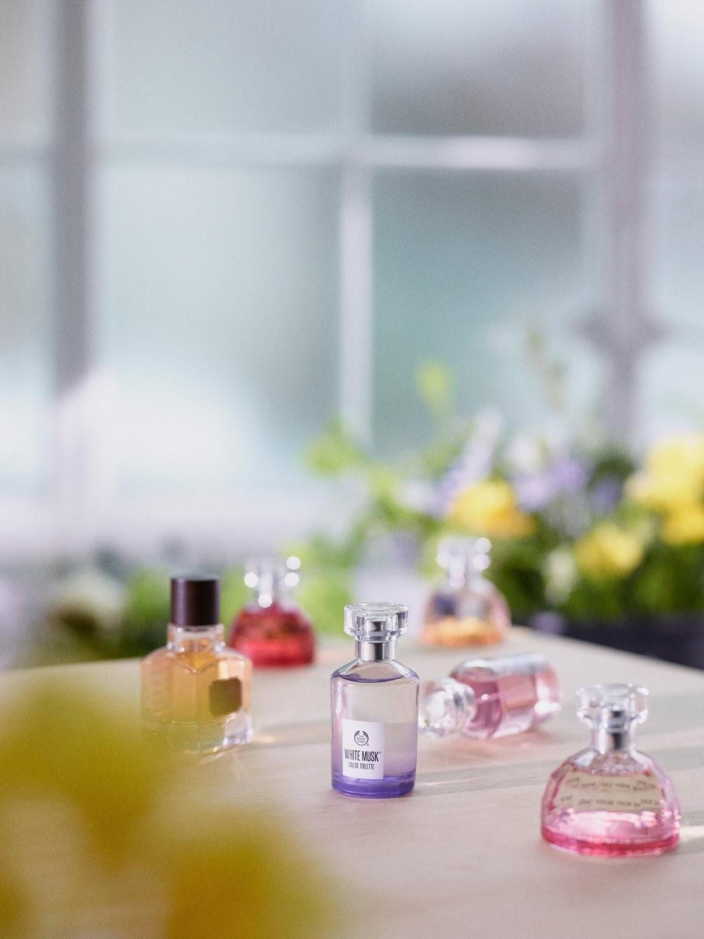 Bouteilles de parfum The Body Shop