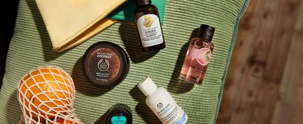 Group of The Body Shop products