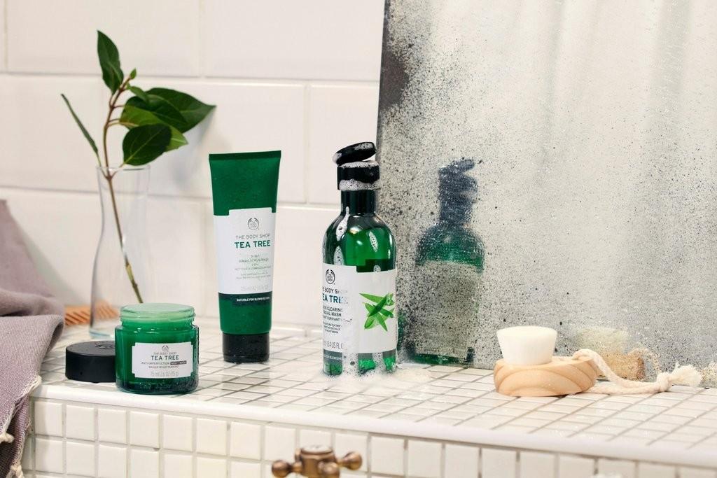 The Body Shop Tea Tree products on shelf