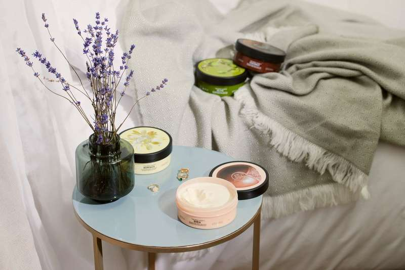 Body Butter Tub On Table Open