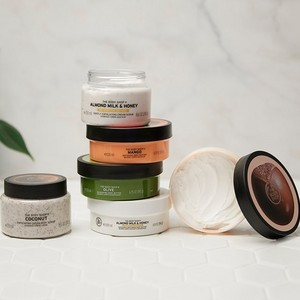 The Body Shop Body Scrub and Body Butters