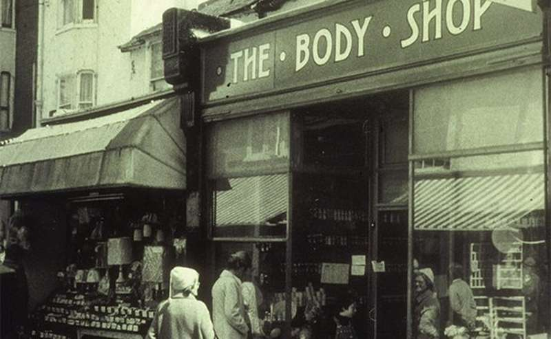 La devanture originale de The Body Shop