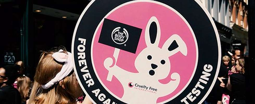 against animal testing placard