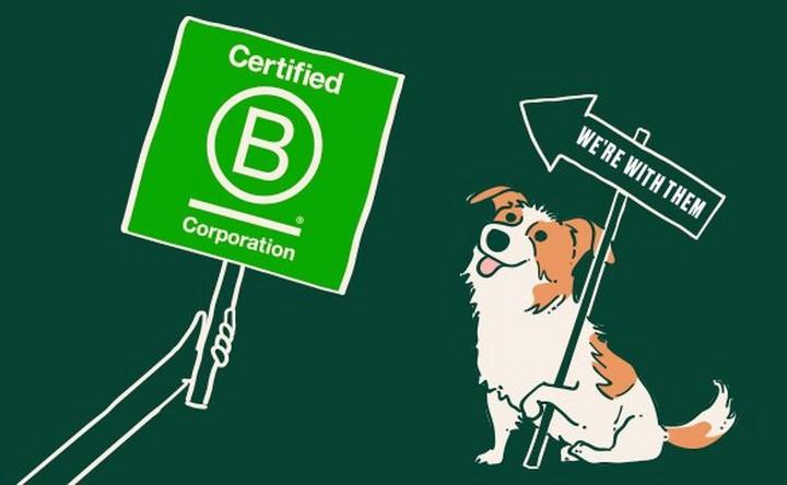 Grafik för B Corp-certifiering