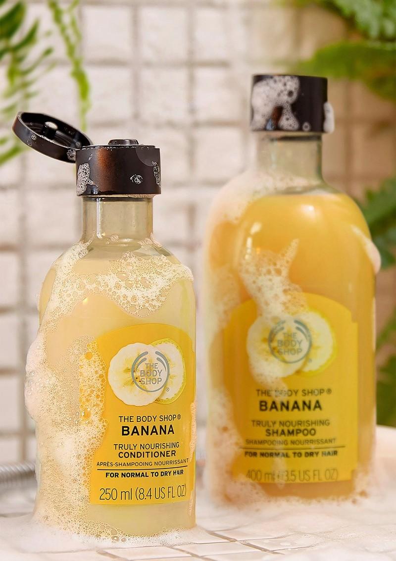 Banana hair care range