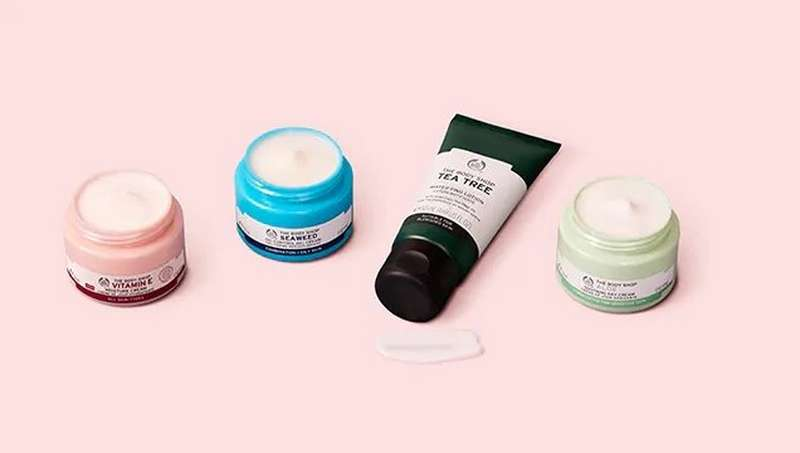 The Body Shop moisturiser products