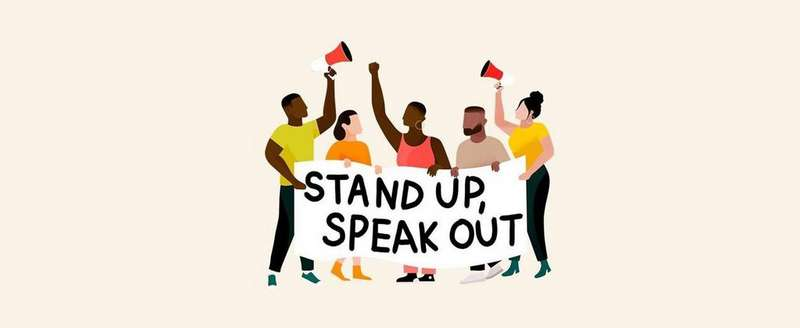 Stand up Speak out banner