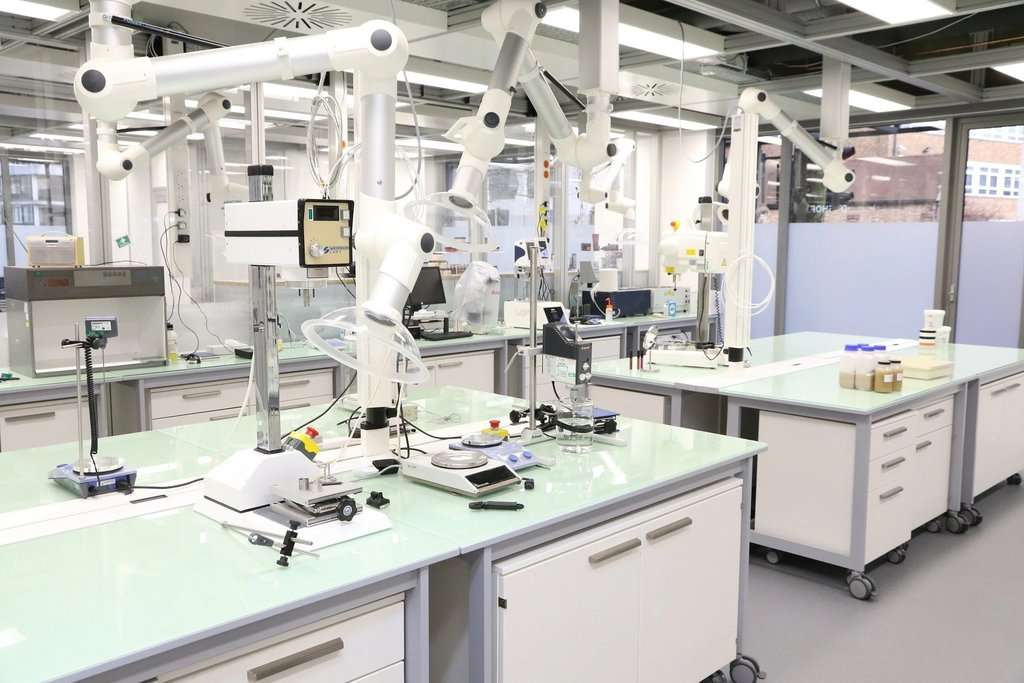 Imagen del laboratorio de The Body Shop