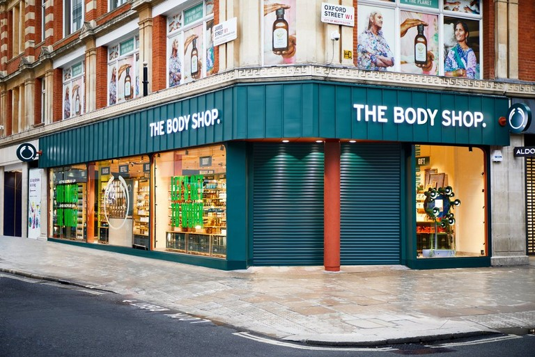 Exterior de una tienda The Body Shop