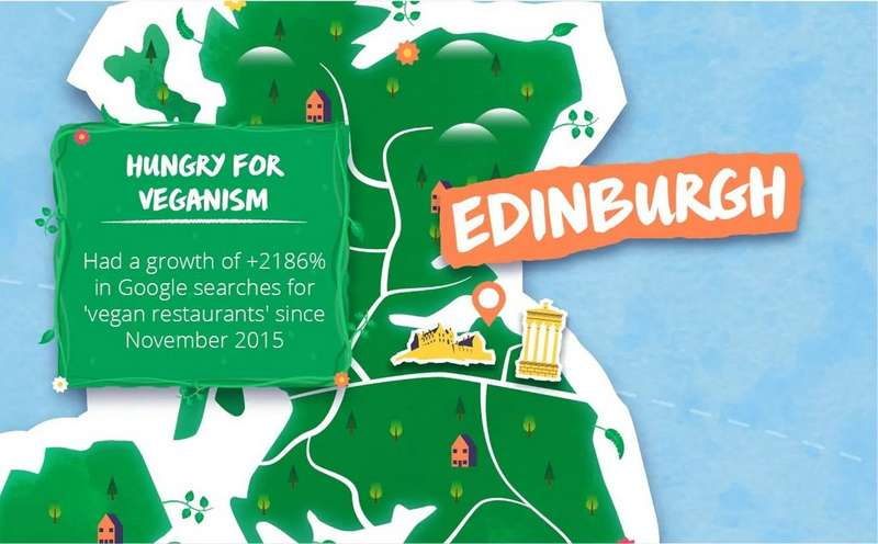 Map with Edinburgh as a focal point