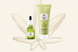 Group of The Body Shop CBD products