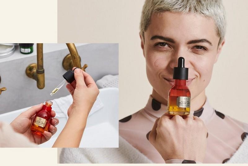 Oils of life Gesichtsöl in Verwendung