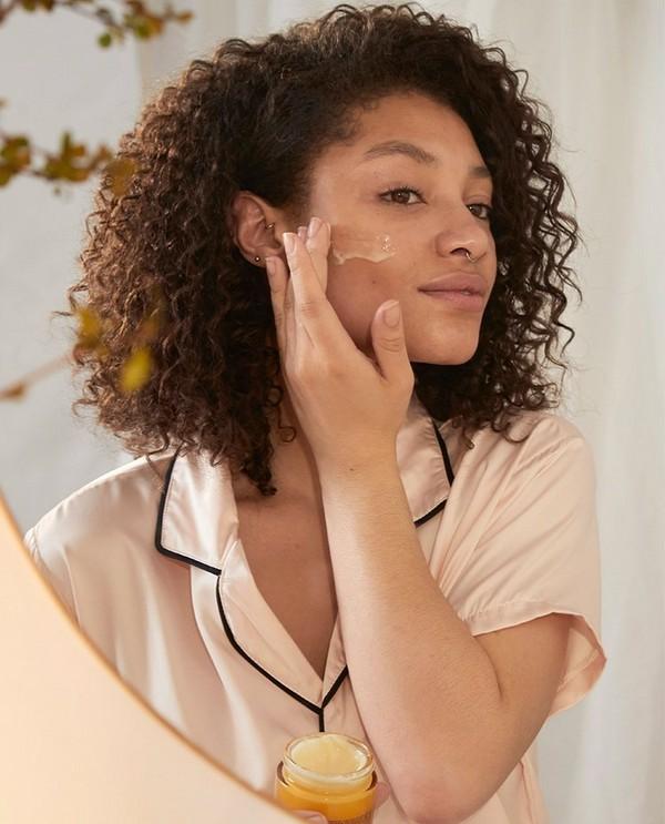 Person applying skincare