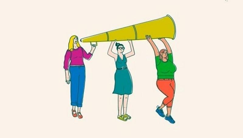 Group of women illustration