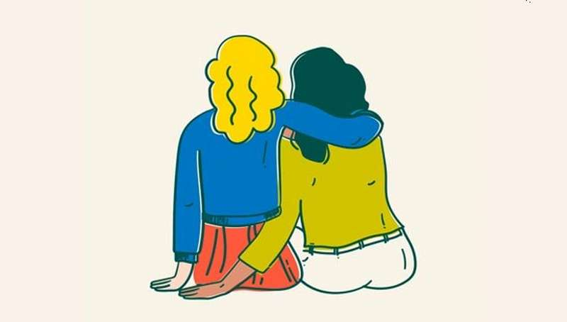 Two women illustration