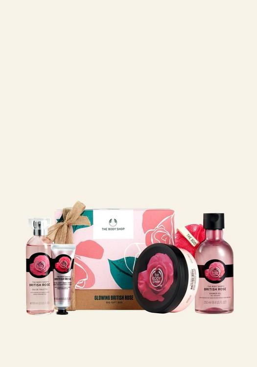 Glowing British Rose Big Gift Box
