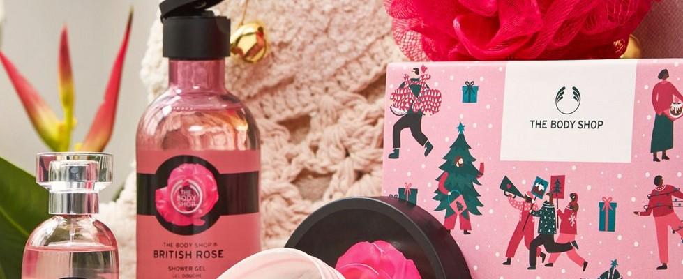 Petite boîte-cadeau à la rose anglaise éclatante