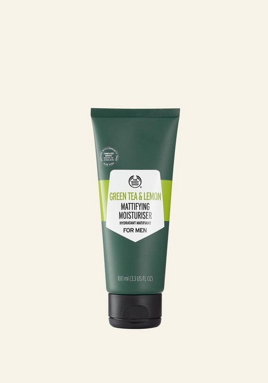 Green Tea & Lemon Mattifying Moisturiser For Men 100ml
