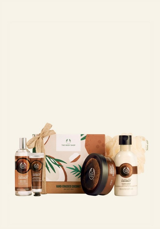 Hand-Cracked Coconut Big Gift Box